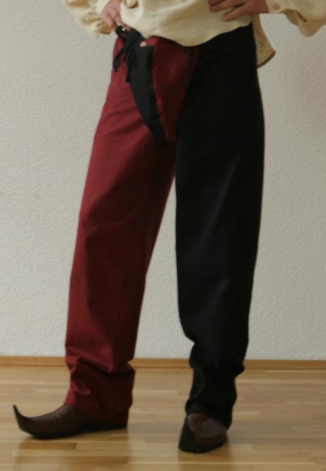 Landsknechthose rot schwarz