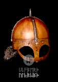 Gjermundbu Helm mit vernieteter Brünne Stahl