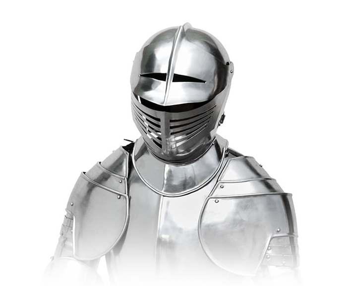 Bild  Ritterrüstung mit Schwert und Ständer