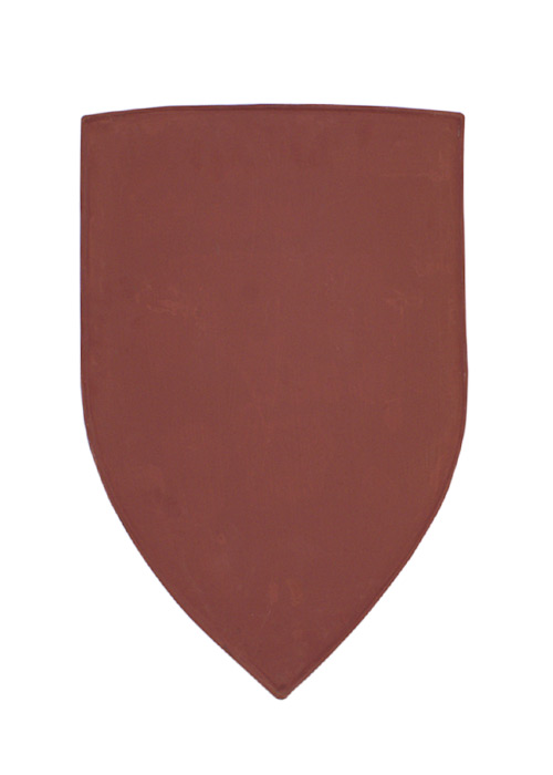 Wappenschild aus Stahl, Rohling zum Selbstbemalen