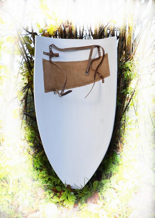 Bild  Grosser Wappenschild Rohling Holz