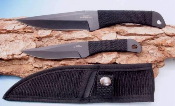 Wurfmesser mit Kordelgriffen