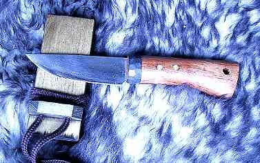 Jagdmesser aus feinem jap. Damast