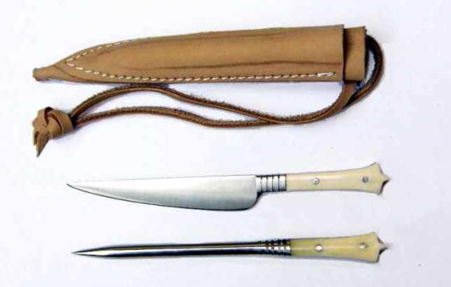 Mittelaltermesser mit Essdorn