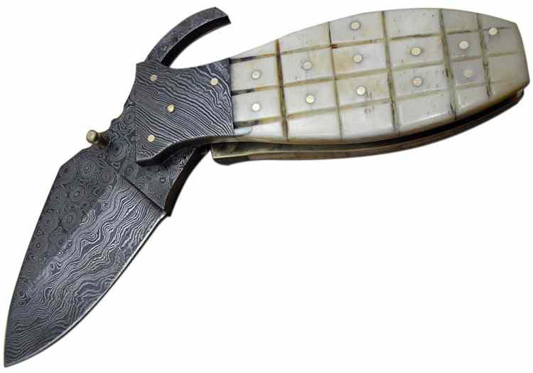 Mittelalter-Damast-Taschenmesser