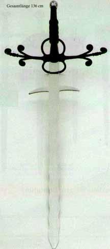Bild 3: <b>Landsknechtschwert Bidenhänder Flamberge</b>