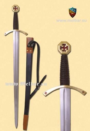 Templer-Schwert mit Scheide