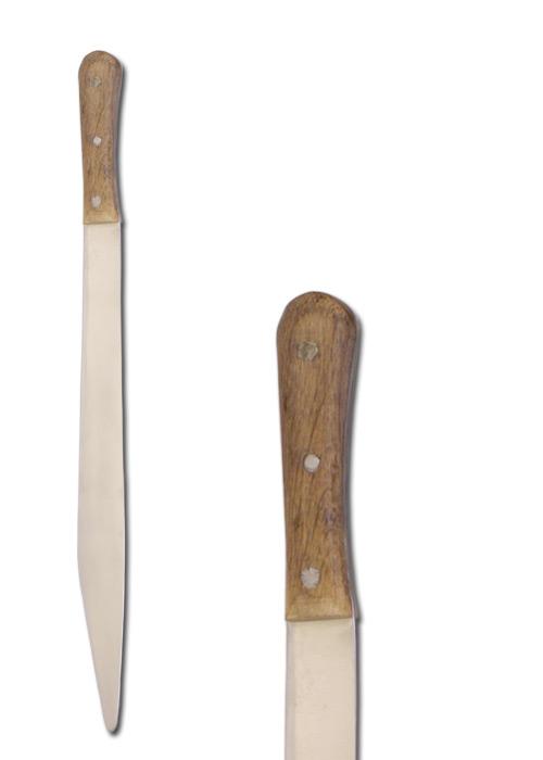 Skramasax mit Eichenholzgriff, schaukampftauglich
