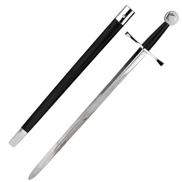 Mittelalter-Kampfschwert mit Scheide
