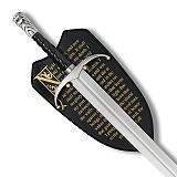 Abb. Langclaw Schwert John Snow mit Wandplatte