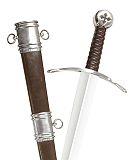 Abb. Hospitaler Schwert Sword of Malta mit Schwertgurt und Scheide