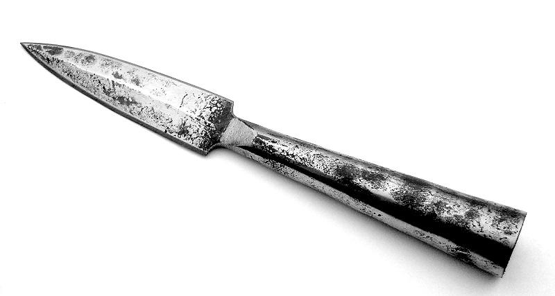 Speer mit Kreuzritter-Templerbanner