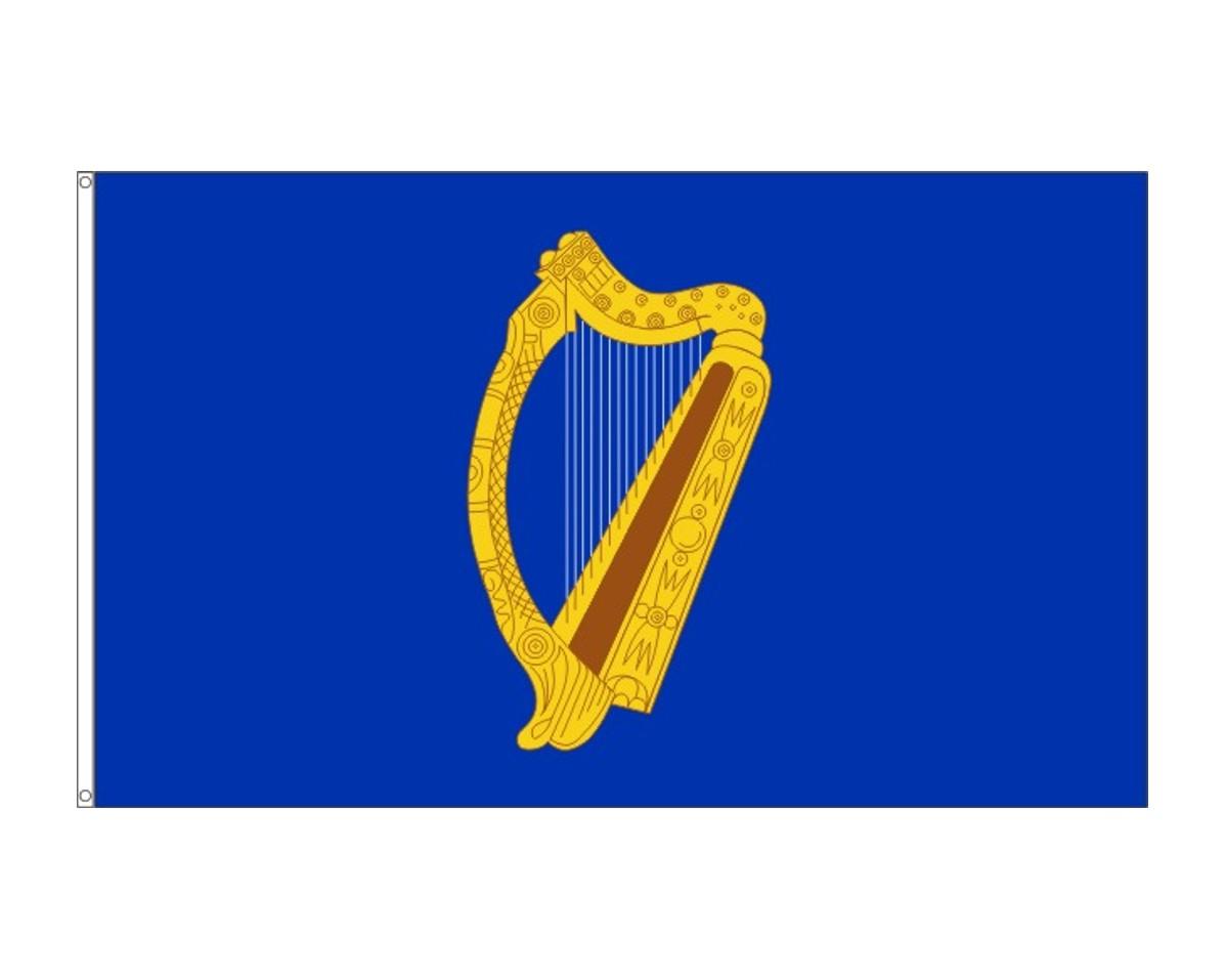 Irland-Präsidentenfahne (Harfe)