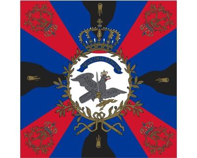 Preußen  Standarte, rot-blau-schwarz