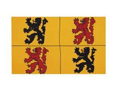 Fahne Hennegau (belgische Provinz)