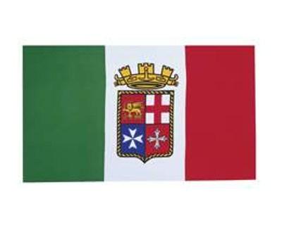 Italien mit Wappen (Gösch)