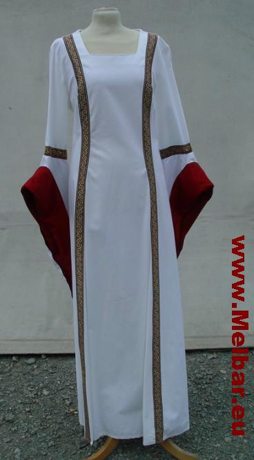 Hochzeitskleid Ruth weiß-rot