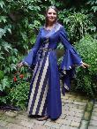 Mittelaltergewand Magdalena blau