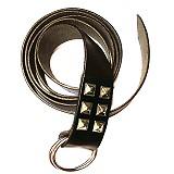 Mittelalter-Langgürtel Ringgürtel schwarz 175cm