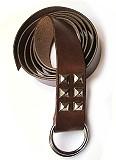 Brauner Mittelalter-Langgürtel Ringgürtel 175cm