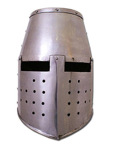 Topfhelm für Schaukampf 2mm Stahl