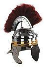 Römischer Helm mit rotem Helmbusch