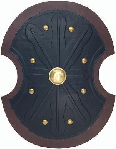 Keltischer Holzschild mit Lederüberzug