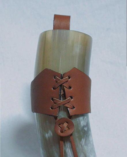 Gürtelhalterung aus Büffelleder Farbe braun