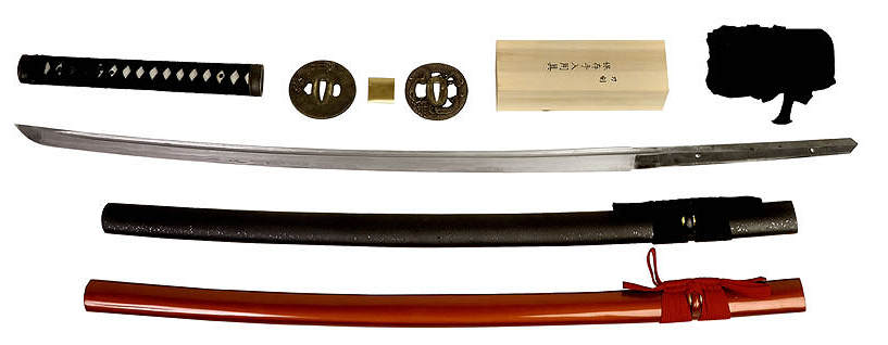 Damast Samurai Schwert Selbstbau Set