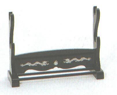 Dekorativer Tischständer für zwei Samuraischwerter<br>